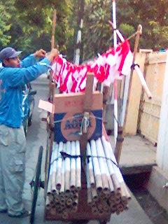 gerobak bendera
