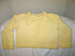 Yellow Baby Sweater
