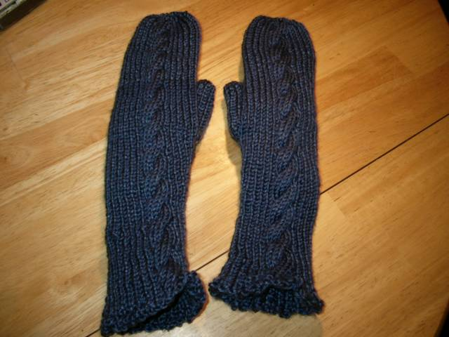 Rib & Cable Mittens