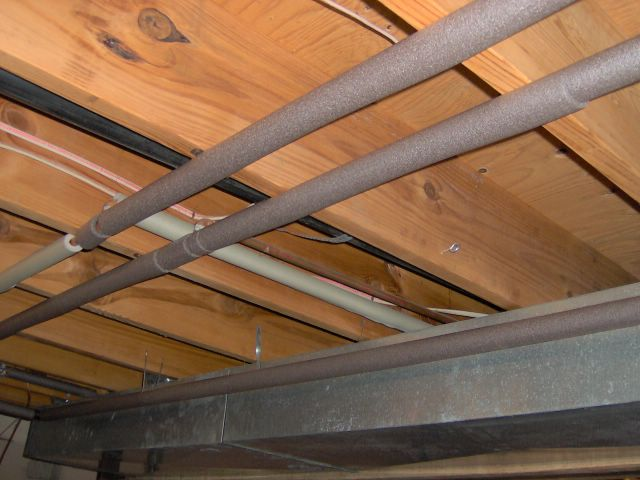 Insulate Pipe - used for leaky basement fix