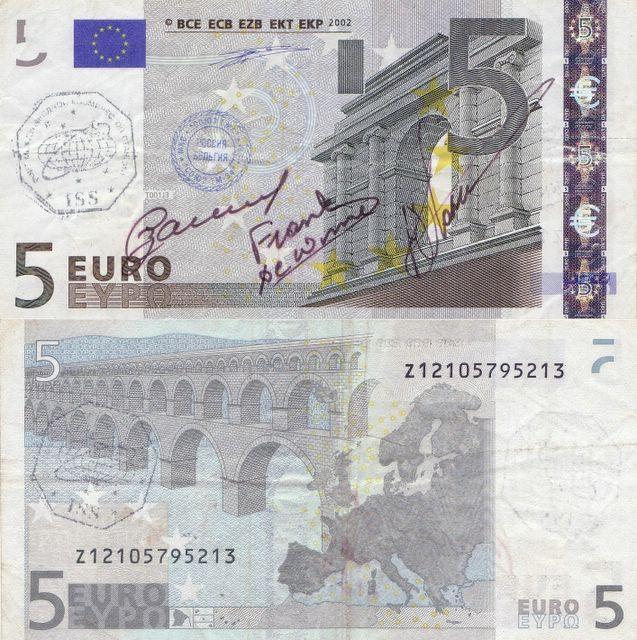 Flown 5 Euro Note
