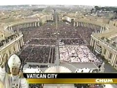 [St. Peter's Square, seen from atop the basilica]