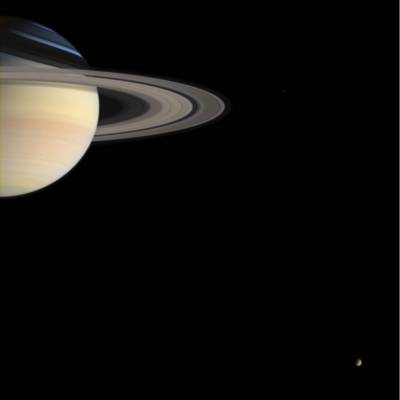 Cassini's Holiday Greetings, Image Credit: NASA/JPL/Space Science Institute