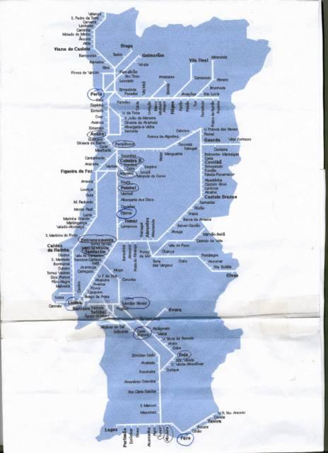 Fatima Portugal Holiday - Portugal rail network map