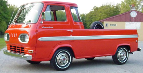 Ford Econoline Pickup This One Is A 1965 You Never See These Anymore But They Were Very Popular Commercial Vehicles When I Was Kid