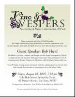 Vino & Vespers flyer