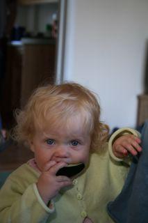Cousin Anya enjoying a slice of water melon