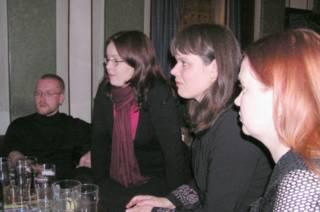 Tuukka, Johanna, Suvi and Maarit in Old Bank