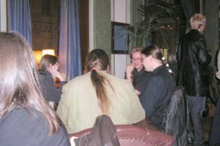 More people sitting at the pub