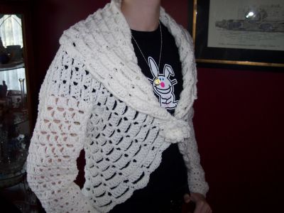 Crochet Jacket Free Pattern Via Garn Studio : Crochet Cocoon Sweater submited images.