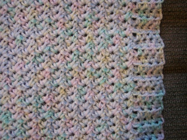 Lisa Lately: Pattern: Crinkle Textured Baby Blanket