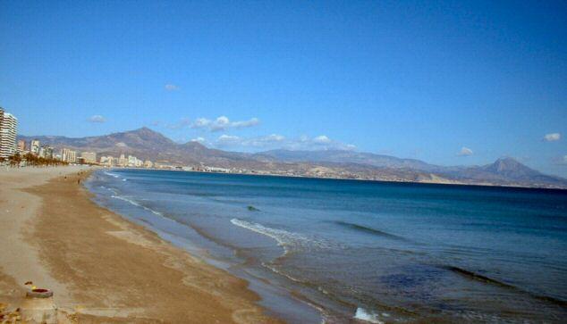 Пляж сан хуан аликанте карта