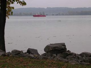 View of Potomac River from ACPD Commemoration Bench site in Orinoco Bay Park