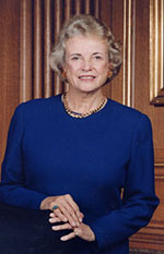Picture of United States Supreme Court Associate Justice Sandra Day O'Connor.