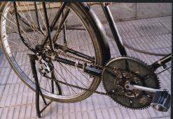 تصویر (1) چرخ زنجیر در وضعیت مناسب  جهت رکاب زنی در سر بالایی یا سرعت کم