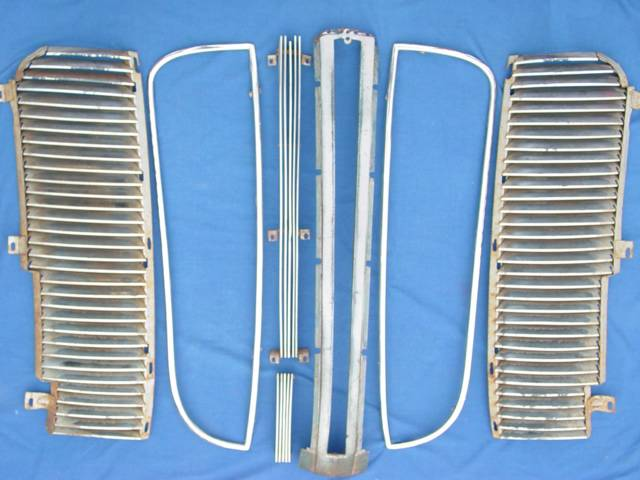 1937 1938 DODGE GRILL - S O L D - Contact thru: IdeationPro.com(no.spam): S  O L D - Complete 1937 - 1938 Dodge Grill - Shown Unassembled (posted June  2005)