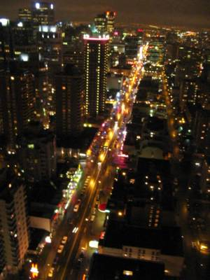 Robson Street from the top of the Landmark Hotel