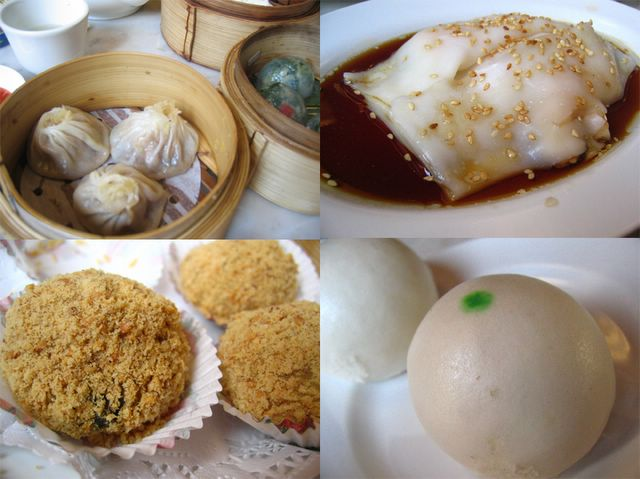 An array of dim sum