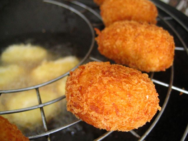 Croquette – after frying