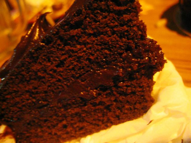 Slice of Devil's Food Cake