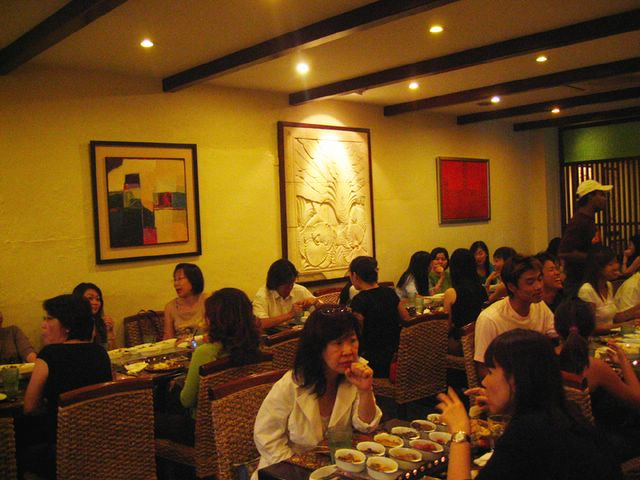 Interior of The Rice Table