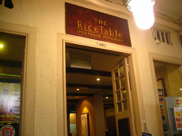 Entrance of Rice Table