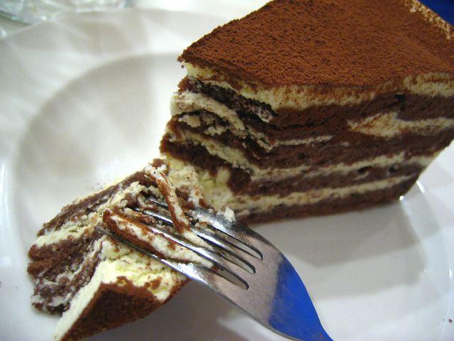 Tiramisu slice