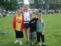 After the race with my 3 nephews - Robert, Jonathan and Andrew