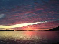 Sunset over Fionn Loch