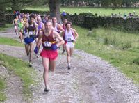 The Start - Alan Ward of Dark Peak leading the field