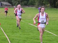 Mark Horrocks & Andy Black of Wharfedale being chased by Steve Jackson of Horwich