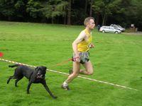 Luke Arnott plus dog