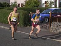Adrian Davis and Adam Ward - fastest vets on Leg 3
