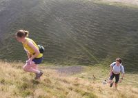 Jill Mykura and Lucy Colquhoun - fastest ladies on Leg 4