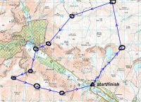 Glen Clova race route
