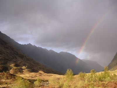 Stunning light looking into Glencoe
