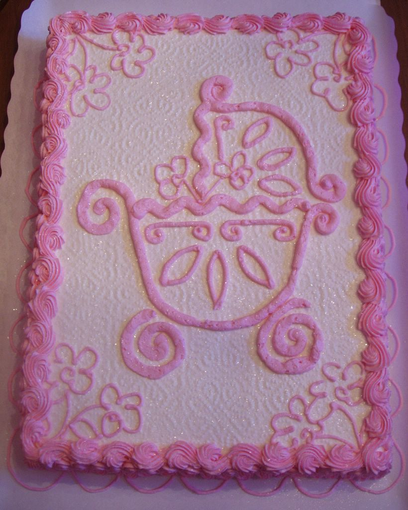 pics photos pin baby shower cakes for girls sheet cake pinterest