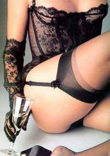 black lace basque
