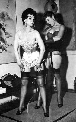 50's corsets, Irving Klaw