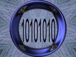 foto producida por carlos Neri, que reprersenta una cadena de numeros binarios trabajada articticamente