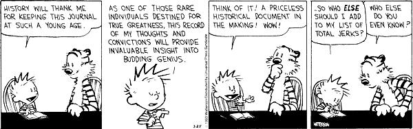 Calvin the genius! by Bill Watterson