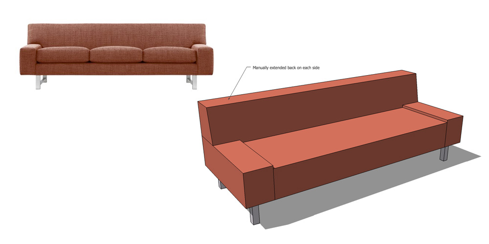 how to draw furniture with sketchup