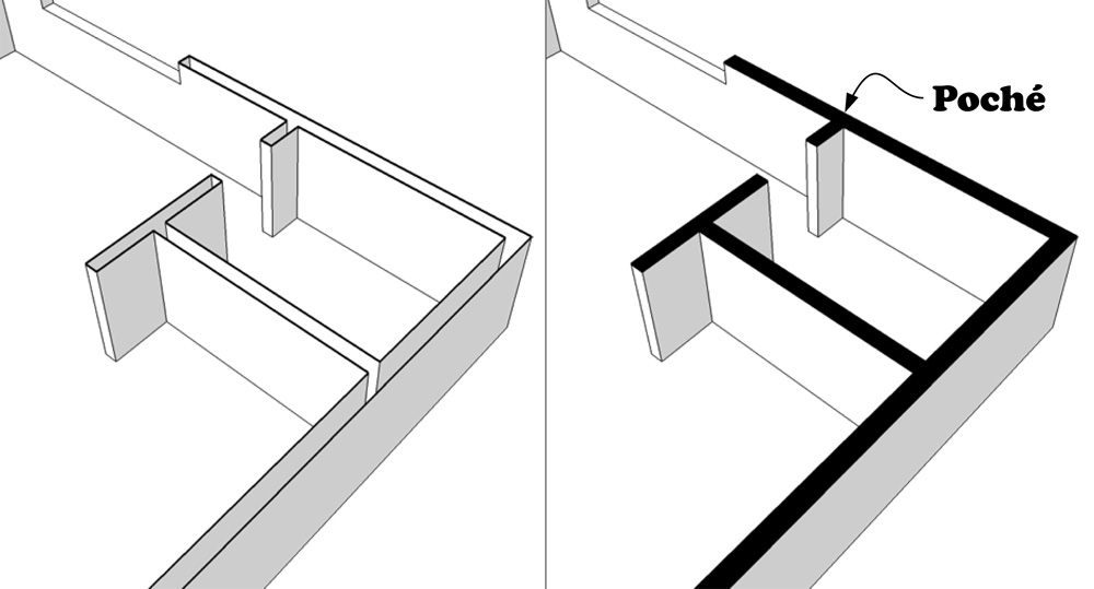 Retired SketchUp Blog: Quick poché for your section cuts