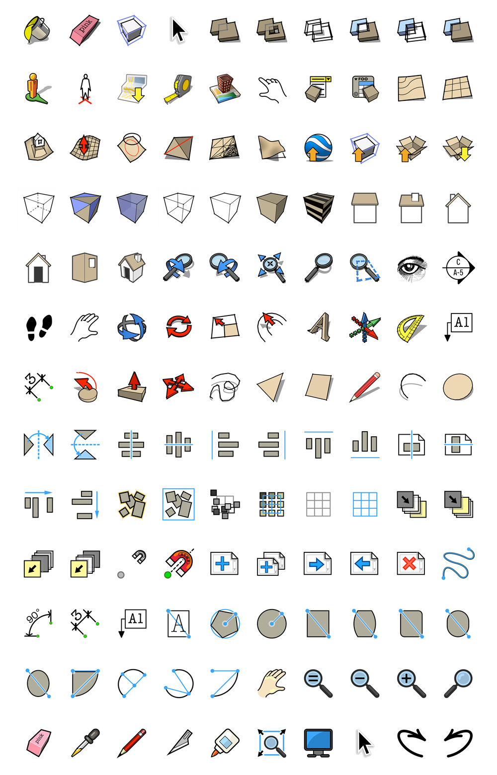 retired sketchup blog hires tool icons for sketchup and