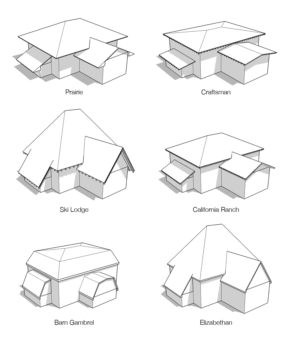 Retired sketchup blog instant roof instant productivity for Roof type names