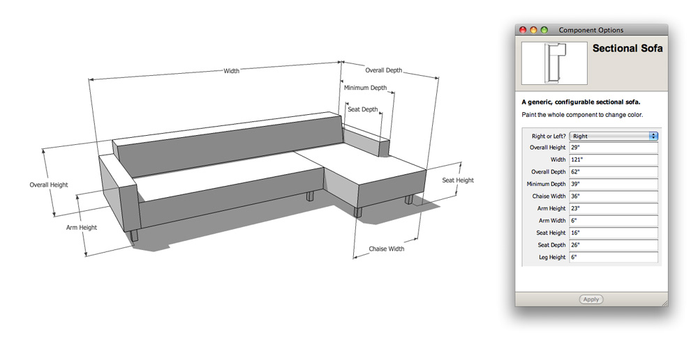Couch Depth the nerdiest sofa shopping tool ever | sketchup blog