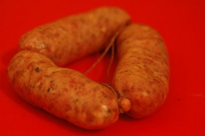 Pure meat sausages flown in from Tuscany