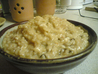 A shiitake and saffron risotto