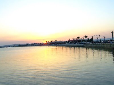 tunis lake sunrise tunisia tunisie