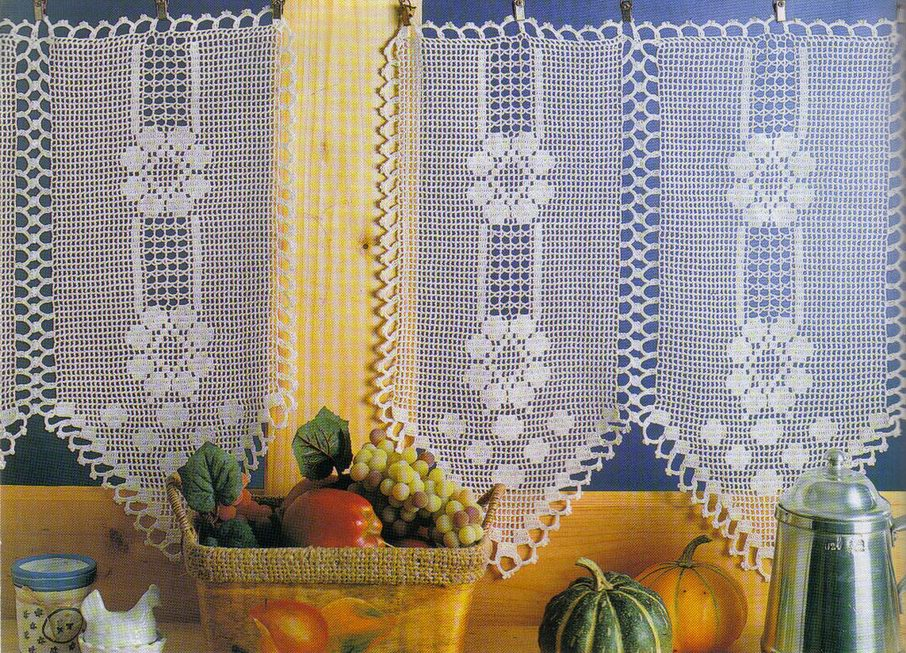 ARTE EM CROCHET *: Cortinas de crochet